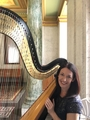 Devon Carpenter, funeral harpist