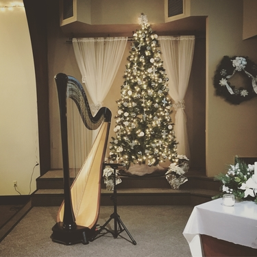 Christmas Eve Harpist in Bloomington-Normal