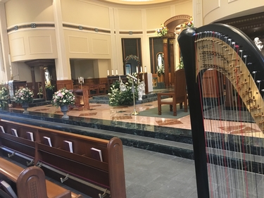 Chicago Harpist Catholic Wedding in Hinsdale