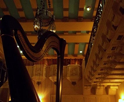 Hotel InterContinental Chicago Wedding Harpist