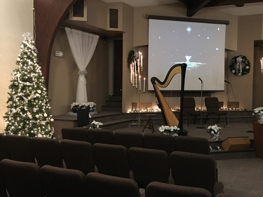 Christmas Eve Harp Music in Central Illinois