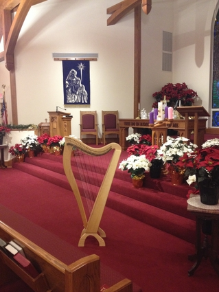Christmas Harp Music in Central Illinois