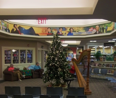 Library Christmas Harp Concert in Granger, Indiana