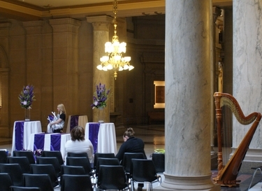 Indianapolis Wedding Harpist - Statehouse Ceremony