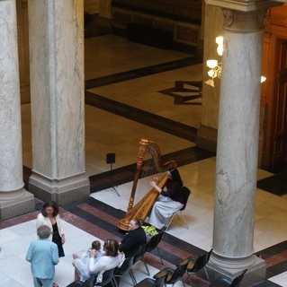 Wedding Ceremony at the Indiana Statehouse