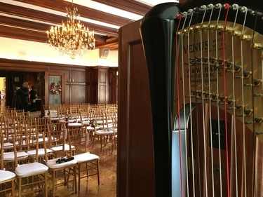 Indy Wedding Harpist - Laurel Hall Wedding