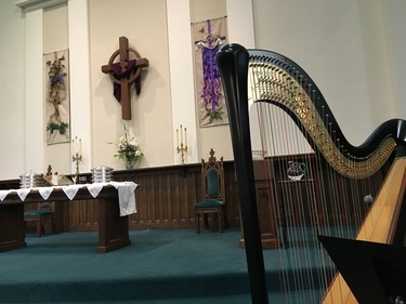 Jacksonville Illinois Harpist for Church Services