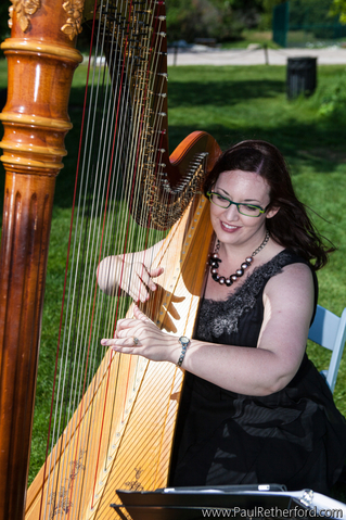 Mackinac Island Wedding Ceremony Harpist