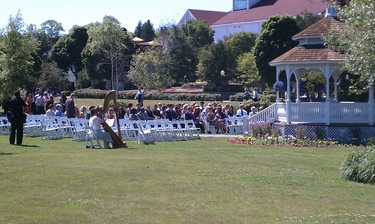 Harp Music for Weddings on Mackinac Island
