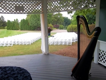 South Bend Harpist for Weddings at Morris Park Country Club