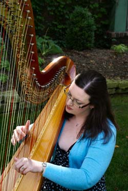 Chicago Wedding Harpist at Narnia Estate