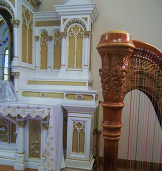 Old St. Ann's Church Quad Cities Harpist for Wedding Ceremonies