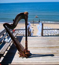 Harp Music for a Wedding on the Beach of Lake Michigan