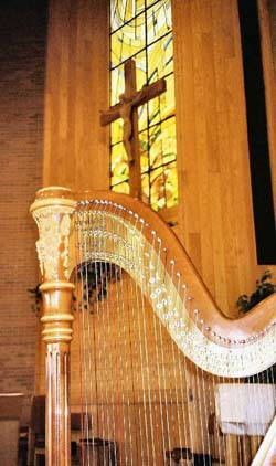 Bloomington IL Catholic Wedding Ceremony Harp Music