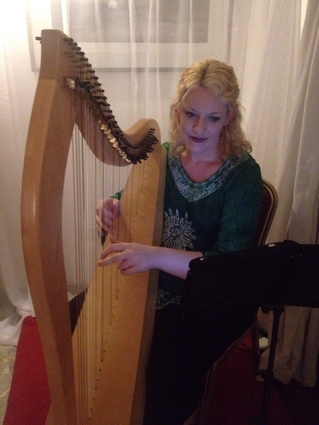 West Africa Musician for Weddings - Irish Harp Player