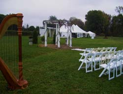 Willow Harbor Vineyard Wedding Ceremony Harp Music Southwest Michigan