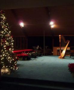 Christmas music on the harp
