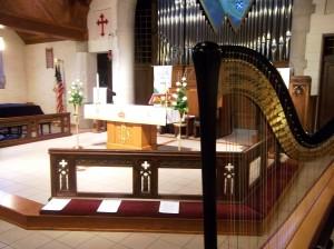 Peoria Harpist for Church Weddings