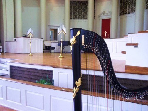 Annie Merner Chapel MacMurray College Wedding Harp