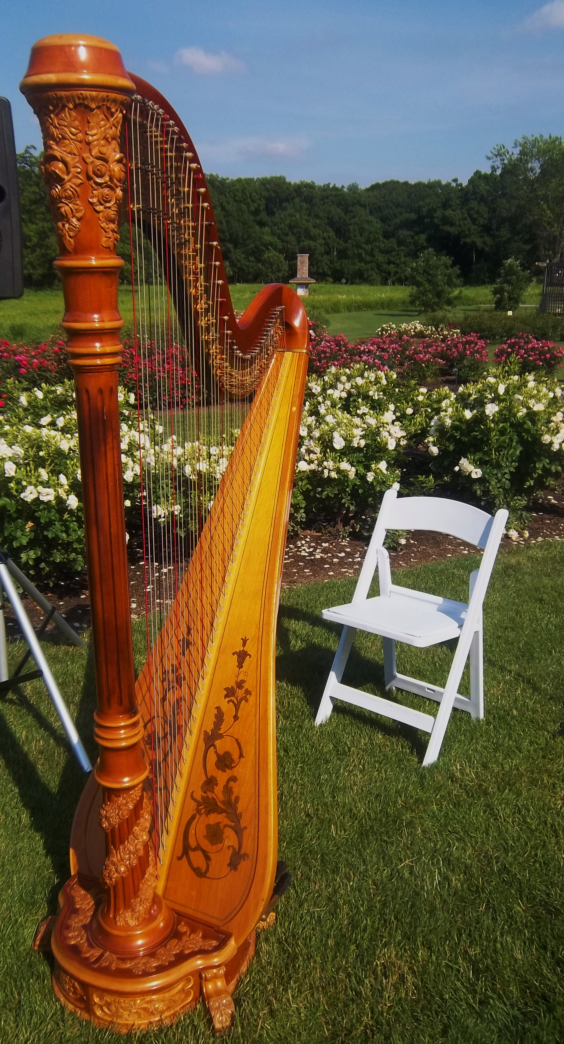 Chicago wedding harpist ceremony reception at cantigny for Cantigny le jardin