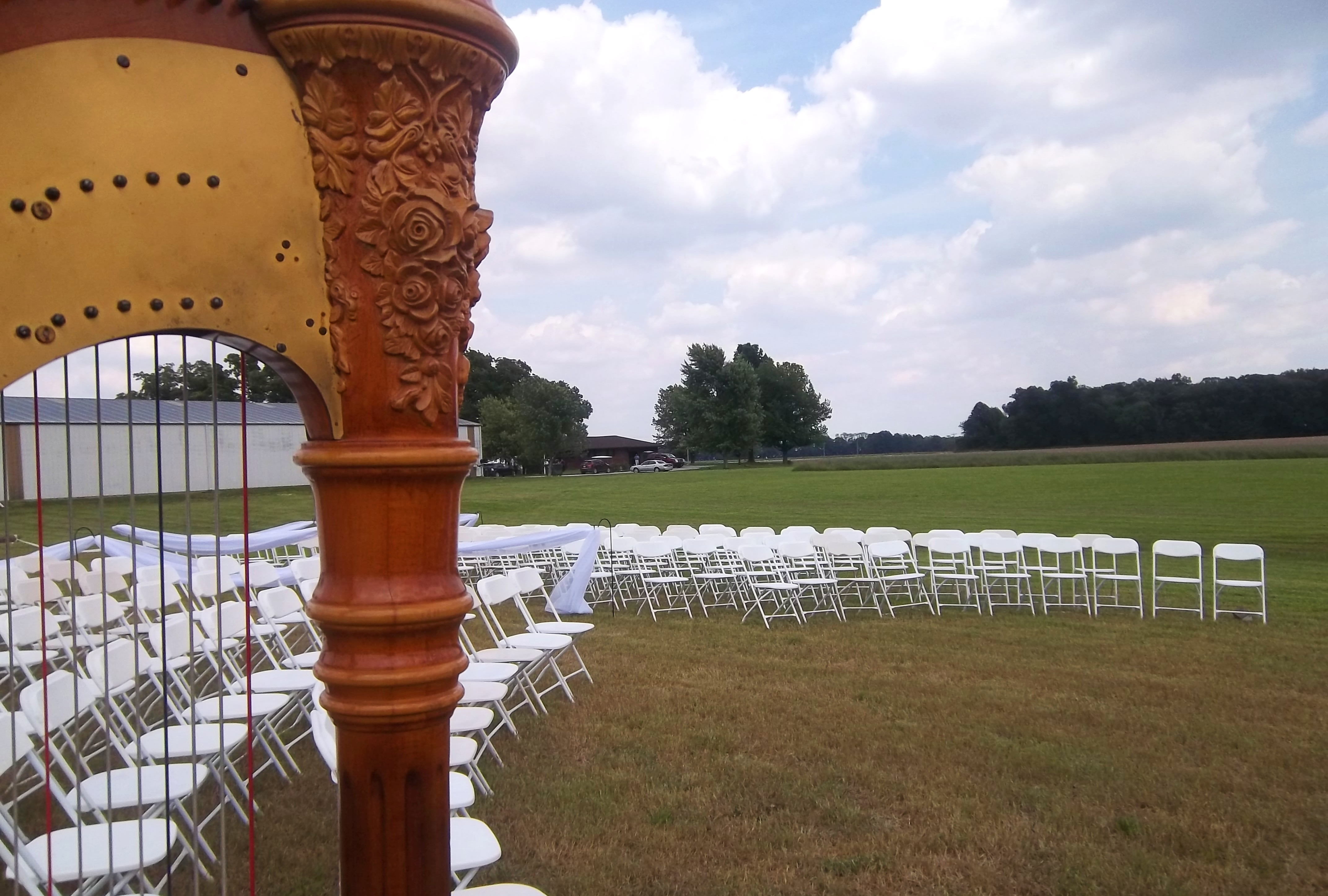 Taylorville Wedding Harpist Ceremony Music On A Family