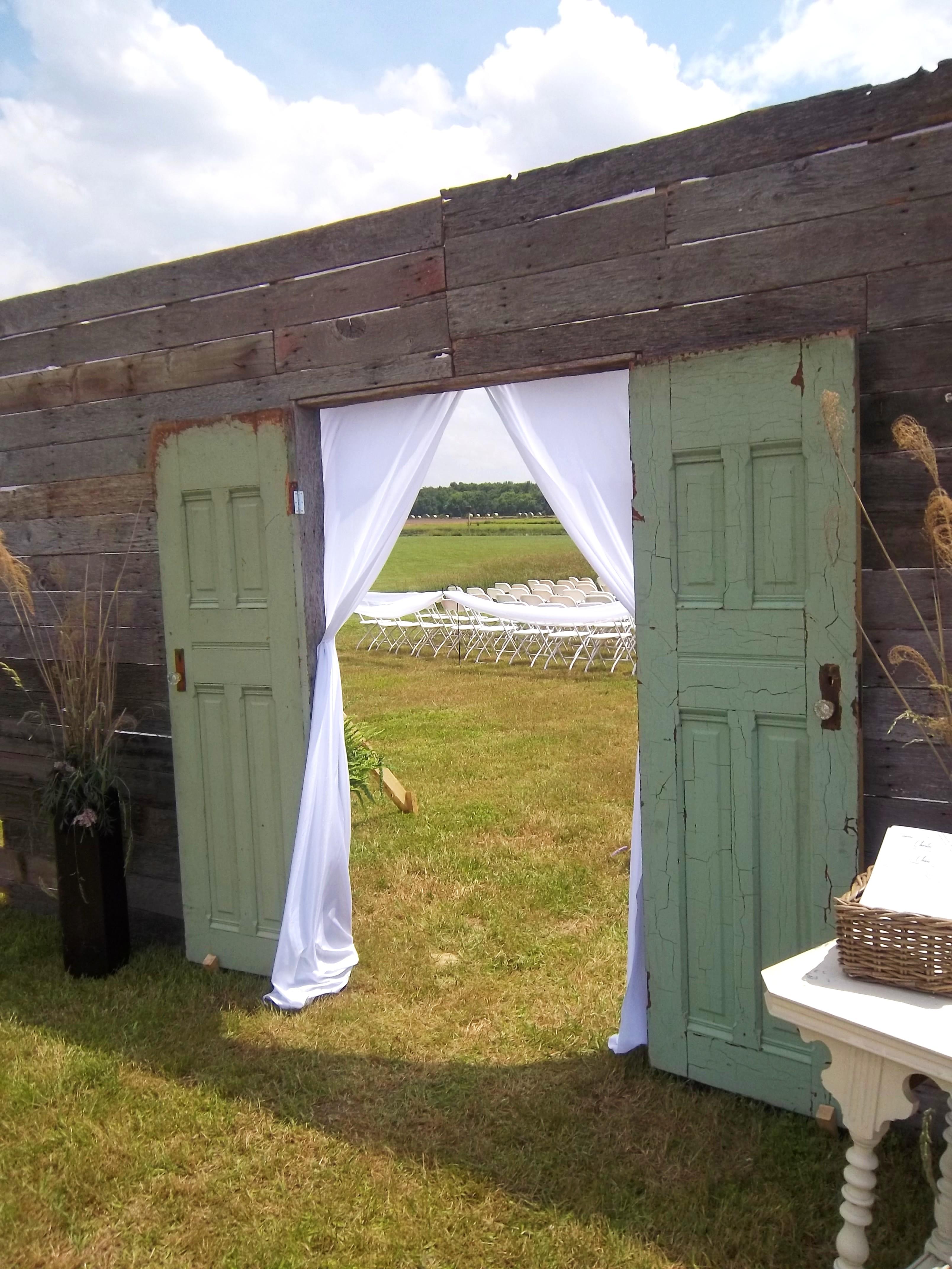 Wedding Doors - Rustic Wedding Ceremony Door Decor