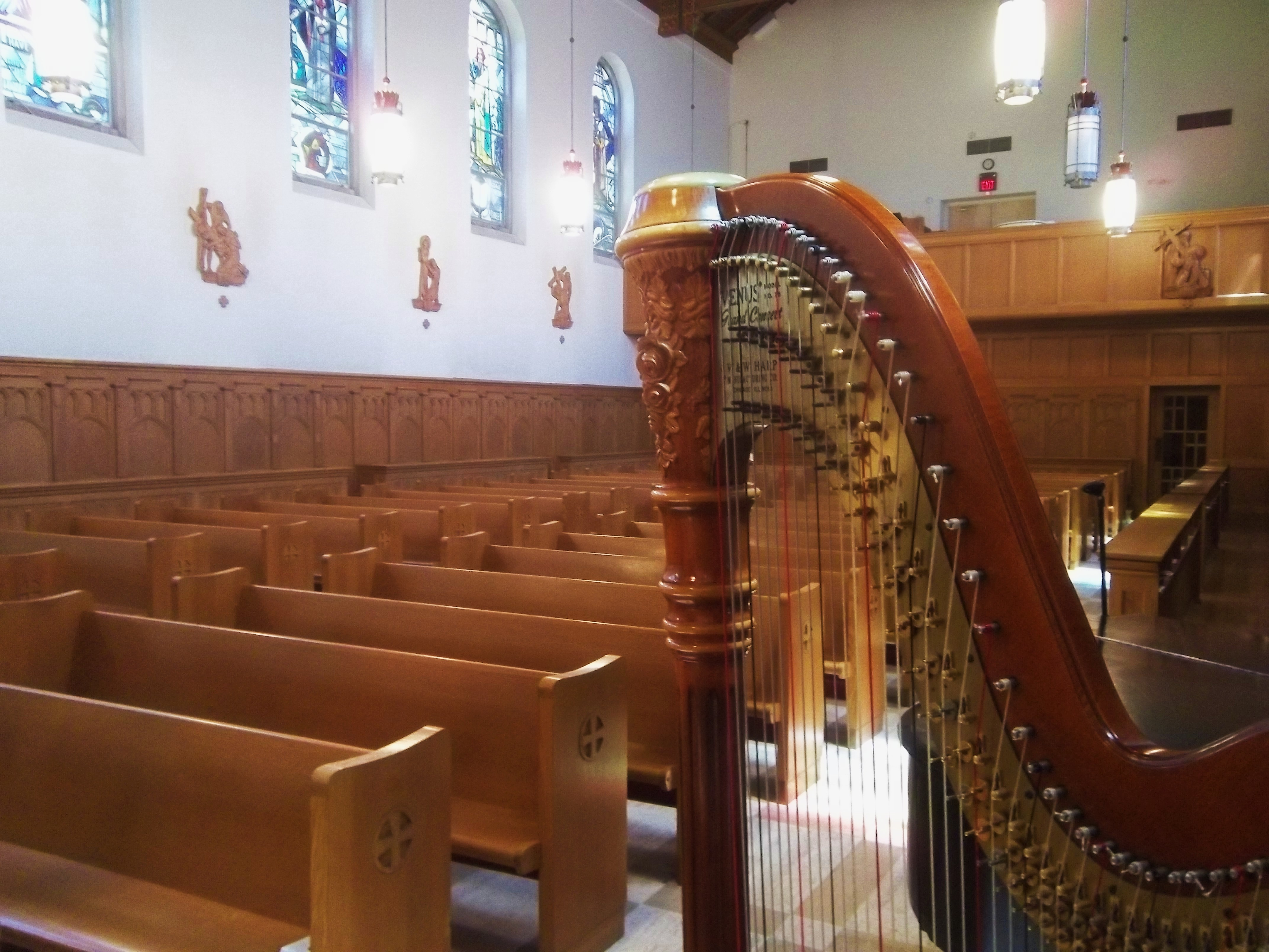Detroit Wedding Harpist Academy Sacred Heart