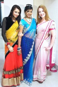 I got to wear a sari!
