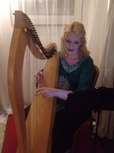 Lagos Irish harpist