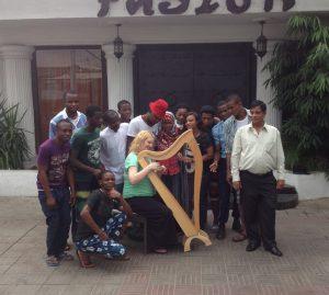 Harpist in Lagos, Nigeria