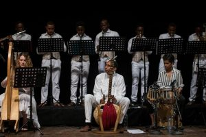 Nigerian harpist and ensemble