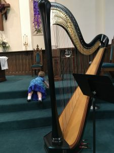 Harpist in Jacksonville, Illinois