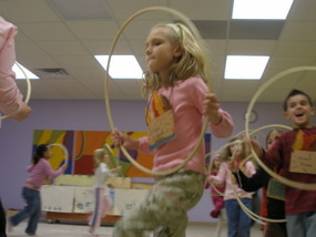 Dancing with Hoops in Music Class