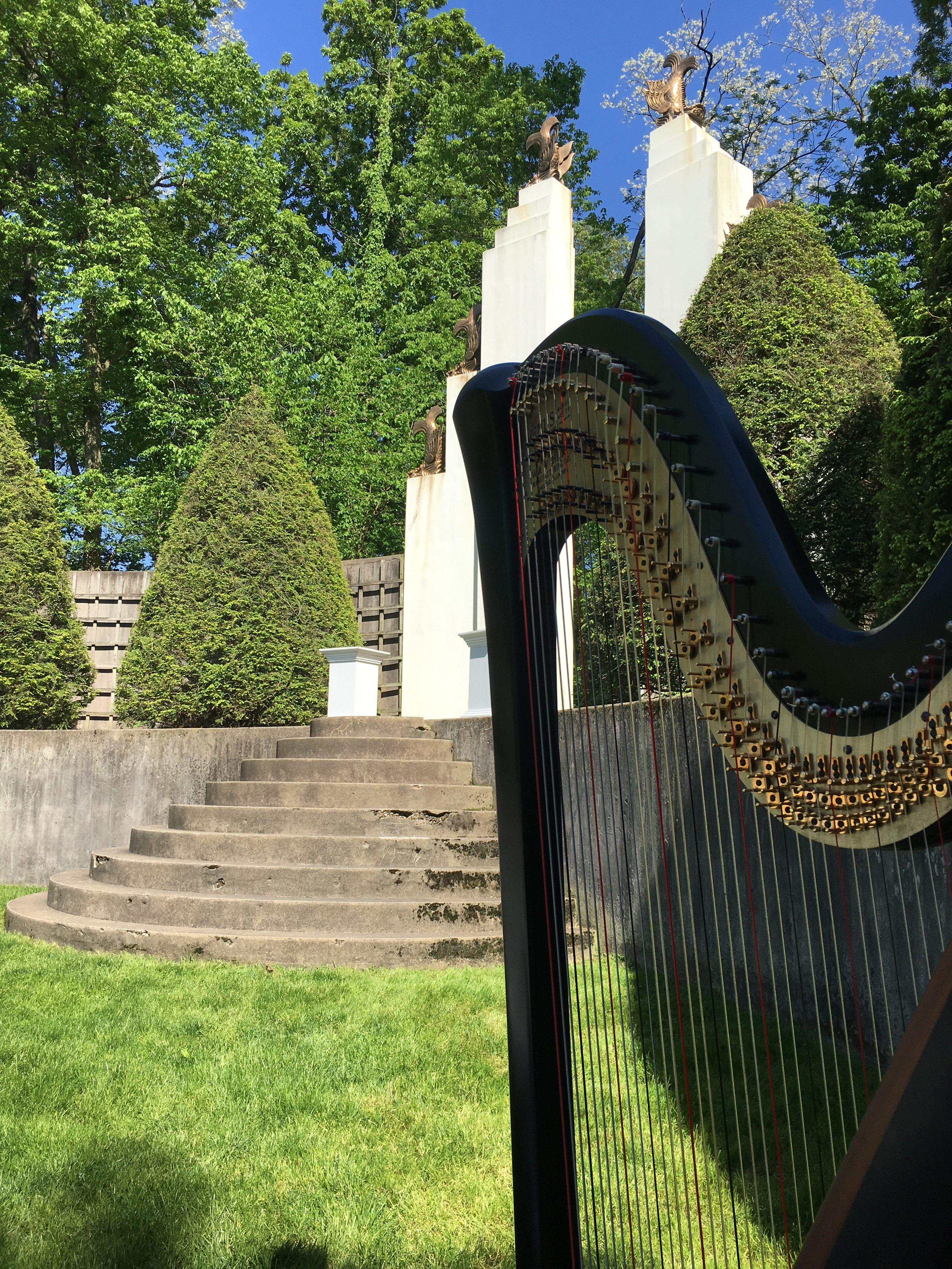 Allerton Sunken Garden Wedding Harpist