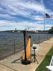 Traverse City Beach Wedding Harpist