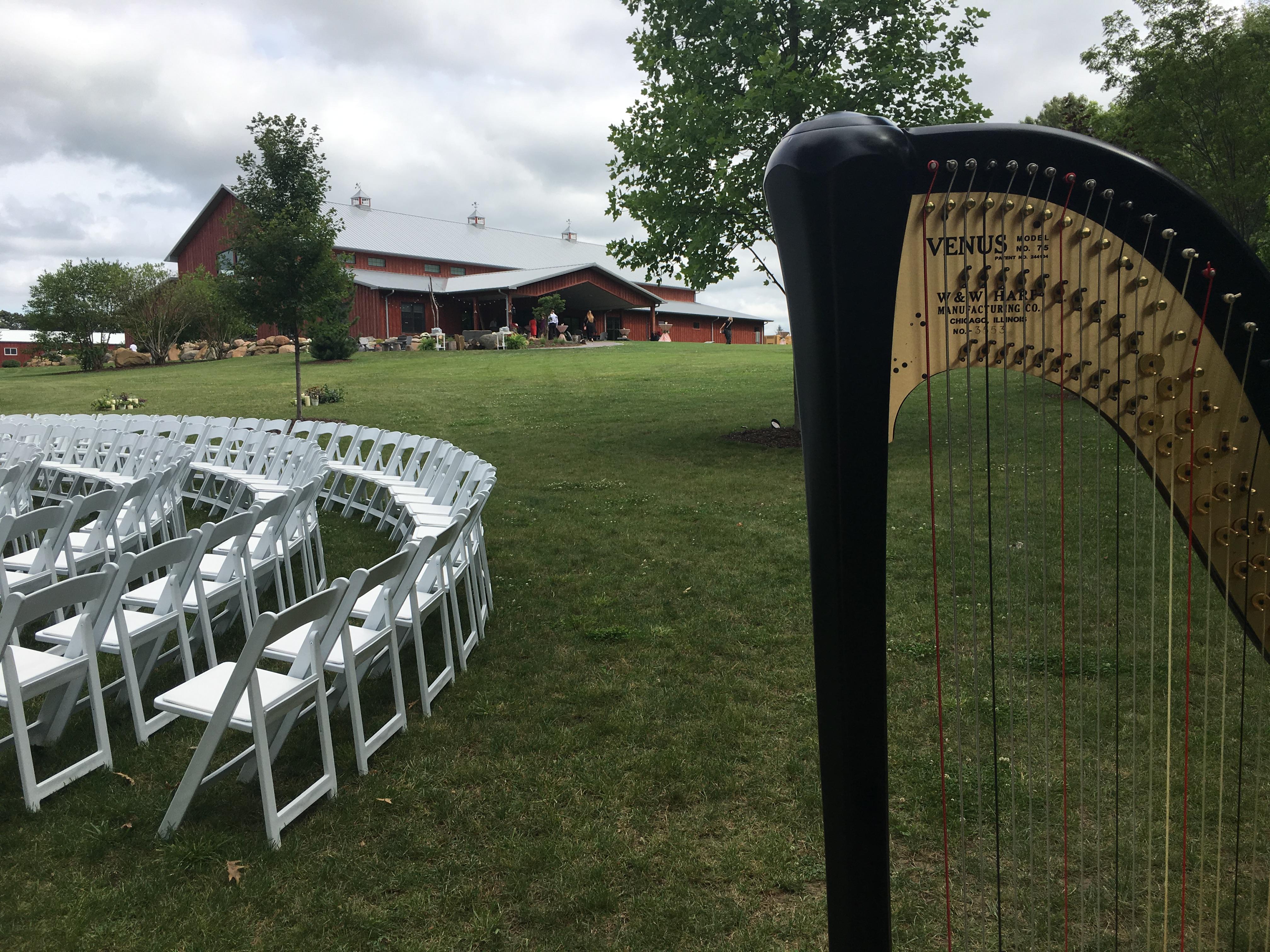 Hornbaker Gardens Wedding Harpist
