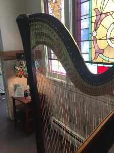 Methodist Church Harp Player