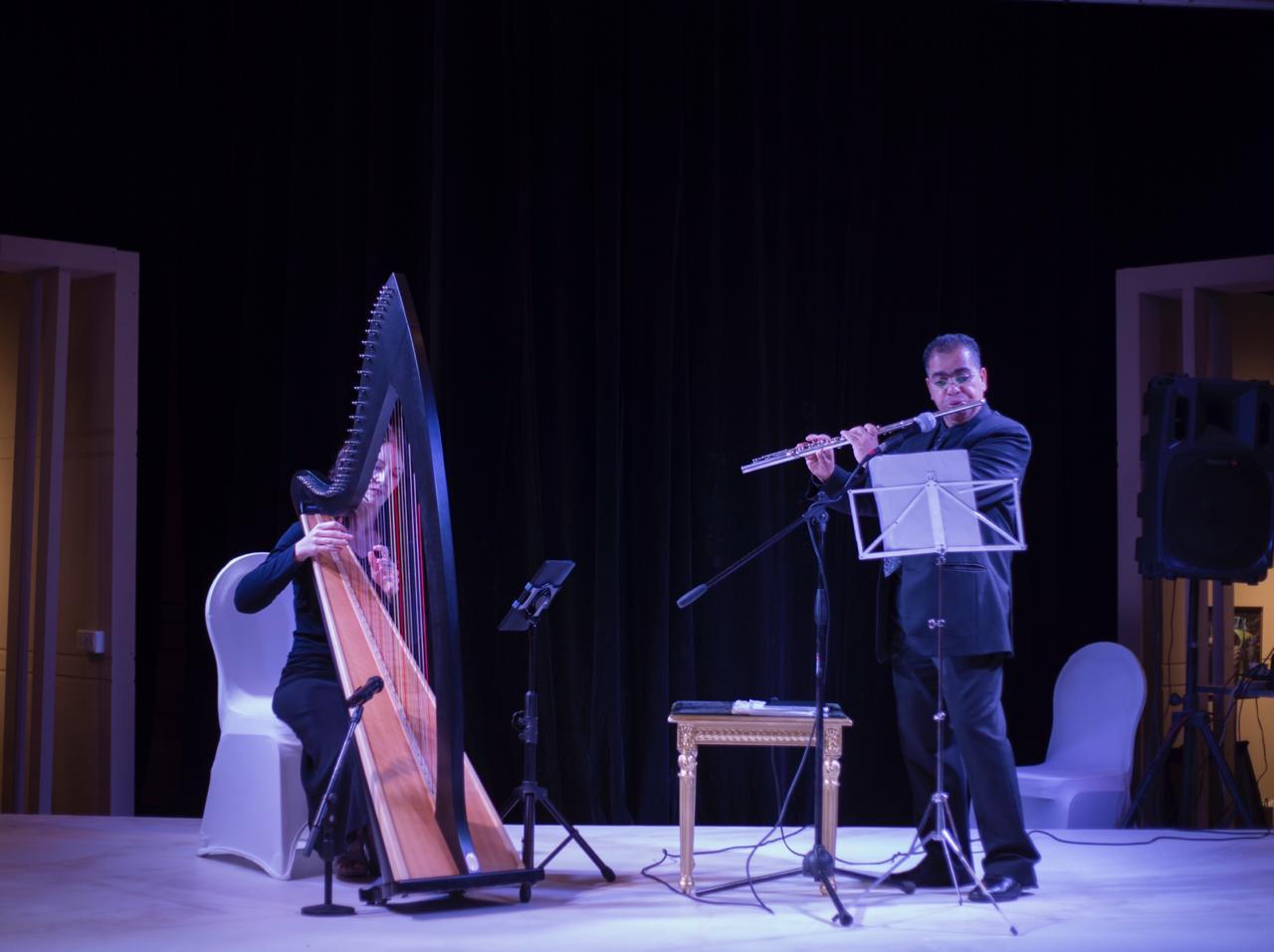 Harp and Flute Duet Saudi Arabia