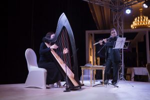 Harp and Flute Duets in Saudi Arabia