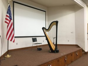 Rock Island Harpist