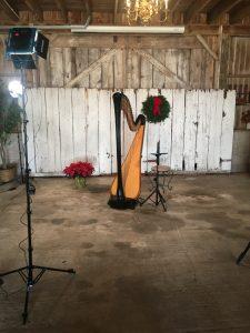 Christmas Harpist